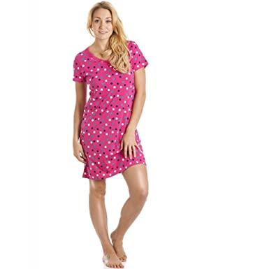 Camille And Print Smooth Soft Cotton Summer Nightdresses 6 8 Vibrant Pink  Polka Dot MULTI d568ad423