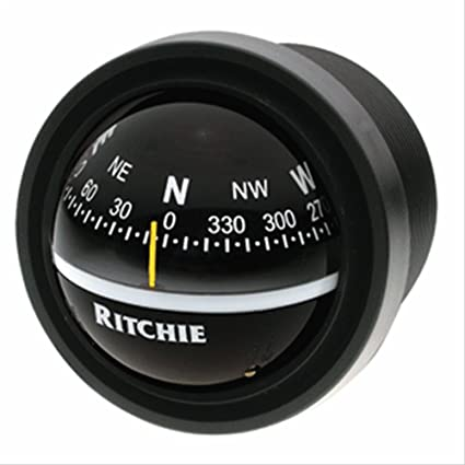 V-57.2 Black Ritchie V-57.2 Explorer Compass Dash Mount