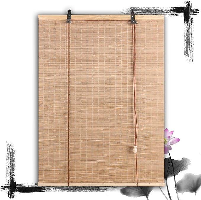 HAIPENG-Persianas Estores De Bambú Enrollable Ventanas con Manos Persianas Sombras por Cortina Puertas Porche Cocina Balcón Fácil Instalación (Color : A, Size : 100x160cm): Amazon.es: Hogar