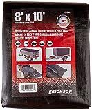 Erickson 57041 Black Industrial Grade Truck/Trailer Poly Tarp, 8' x 10', 1 Pack