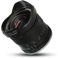 Agomike Lente Ultra Gran Angular 7artisans 12mm f2.8 para Sony para Canon para Fuji APS-C Cámaras sin Espejo Enfoque Manual Prime Fixed Lens