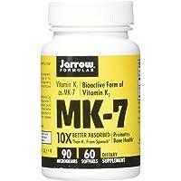 Jarrow Formulas MK-7 90 mcg - 60 Softgels - Superior Vitamin K Product for Building Strong Bones - Supports Heart…