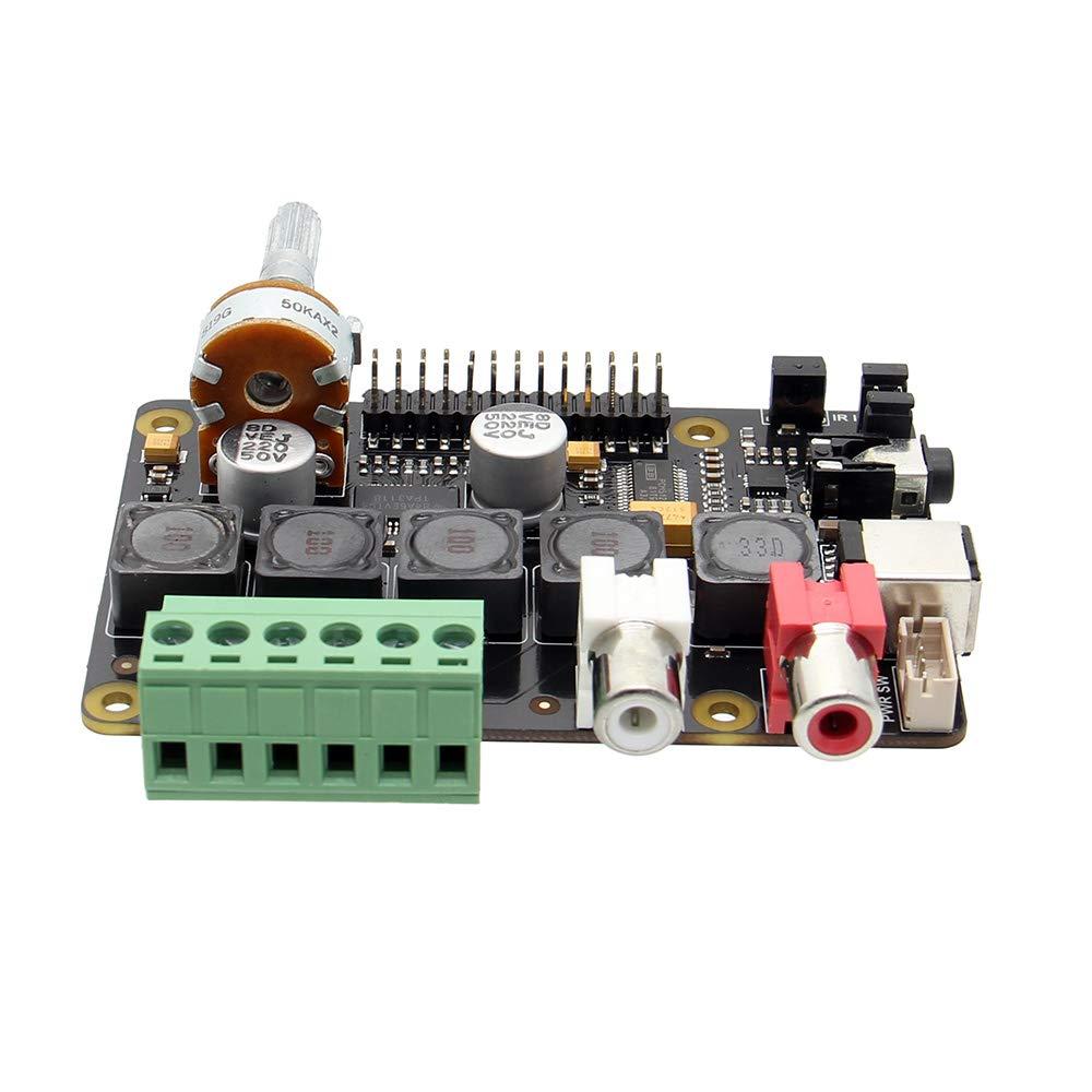 Tarjetas de sonido internas X400 V3.0 Auidio Expansion Board Tarjeta de  sonido con Clase D Raspberry Pi 3 B+ /3 A+ Full-HD DAC con I2S Class-D TI  PCM5122 Amplificador 3B Reproductor de