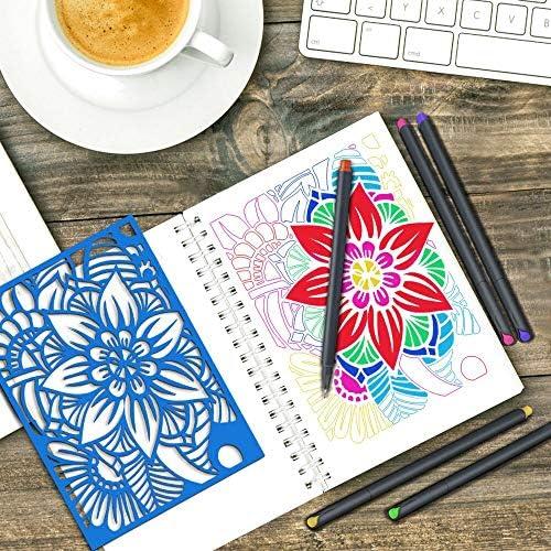 MyLifeUNIT Fineliner Color Pen Set, 0.4mm Colored Fine Liner Sketch Drawing Pen, Pack of 10 Assorted Colors 4