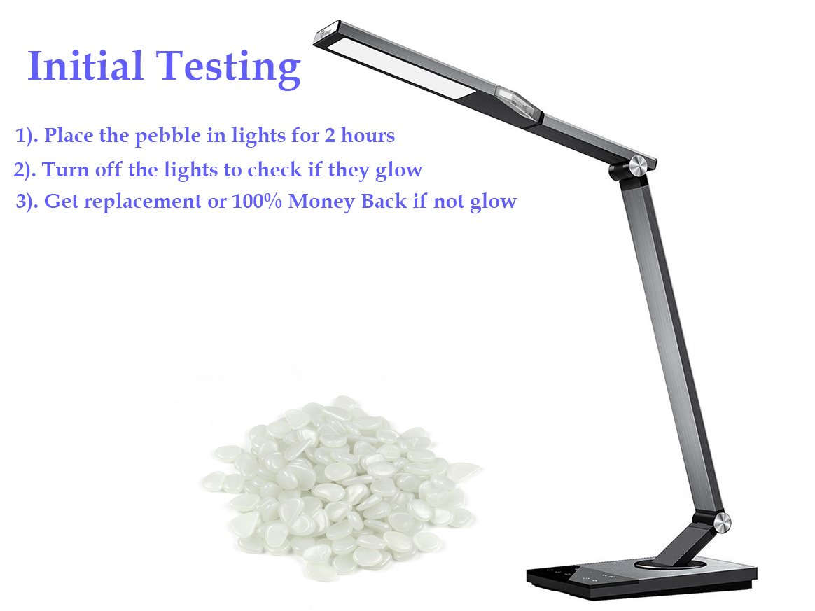2lb 400PCS Glow in the Pebbles Stones for Indoor and Outdoor Walkways Garden Driveway Large Bag Powered By Light And Solar (White)