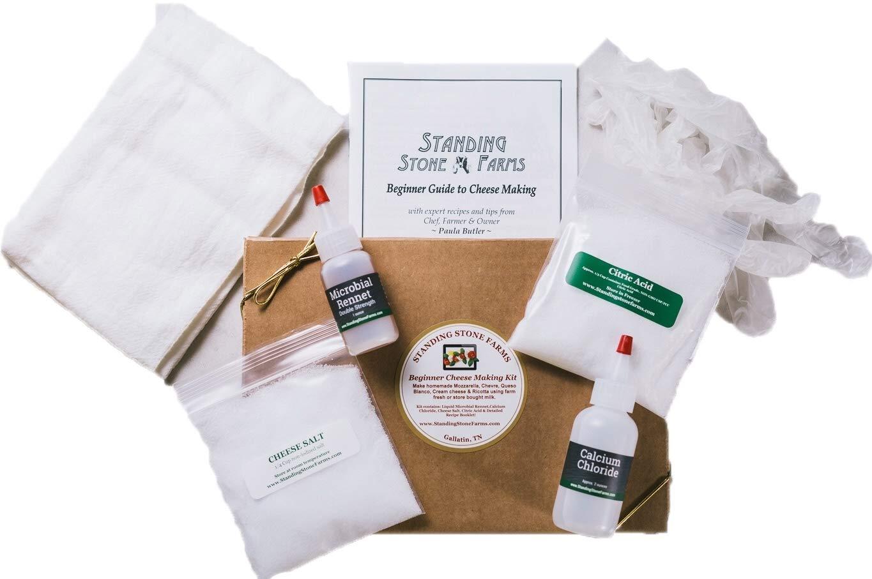 Standing Stone Farms Basic Beginner Cheese Making Kit - Mozzarella, Burrata, Burricota, Chevre, Ricotta, Mascarpone & Butter! by Standing Stone Farms