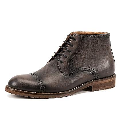 MERRYHE Botas De Cuero Genuino Martin Boots para Hombres ...