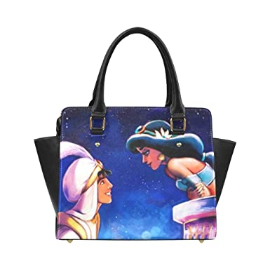 25b7307f6 Angelinana Princess Jasmine and Aladdin Custom Handbag Fashion Shoulder Bag  PU leather Women's Handbags