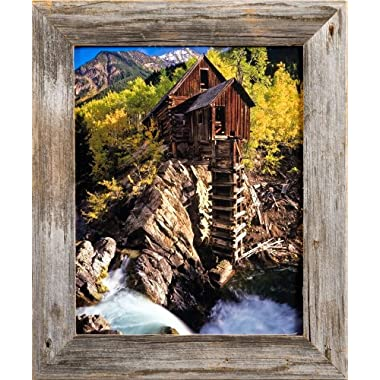 Homestead Narrow 16x20 Rustic Barnwood Picture Frame- 1.5 Inch Wide Reclaimed Wood