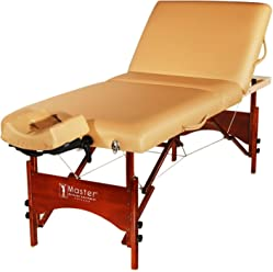"Master Massage 30"" Deauville Salon LX Massage Table Package-Otter (with elevating back-rest)"