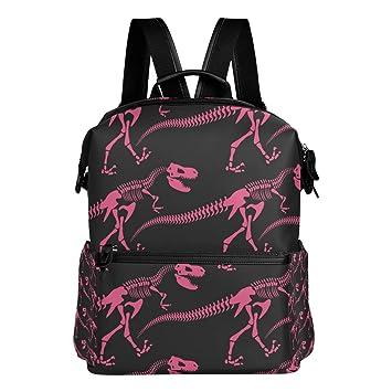 TIZORAX - Mochila Escolar con diseño de Dinosaurios de Jurasic, Color Rosa: Amazon.es: Deportes y aire libre