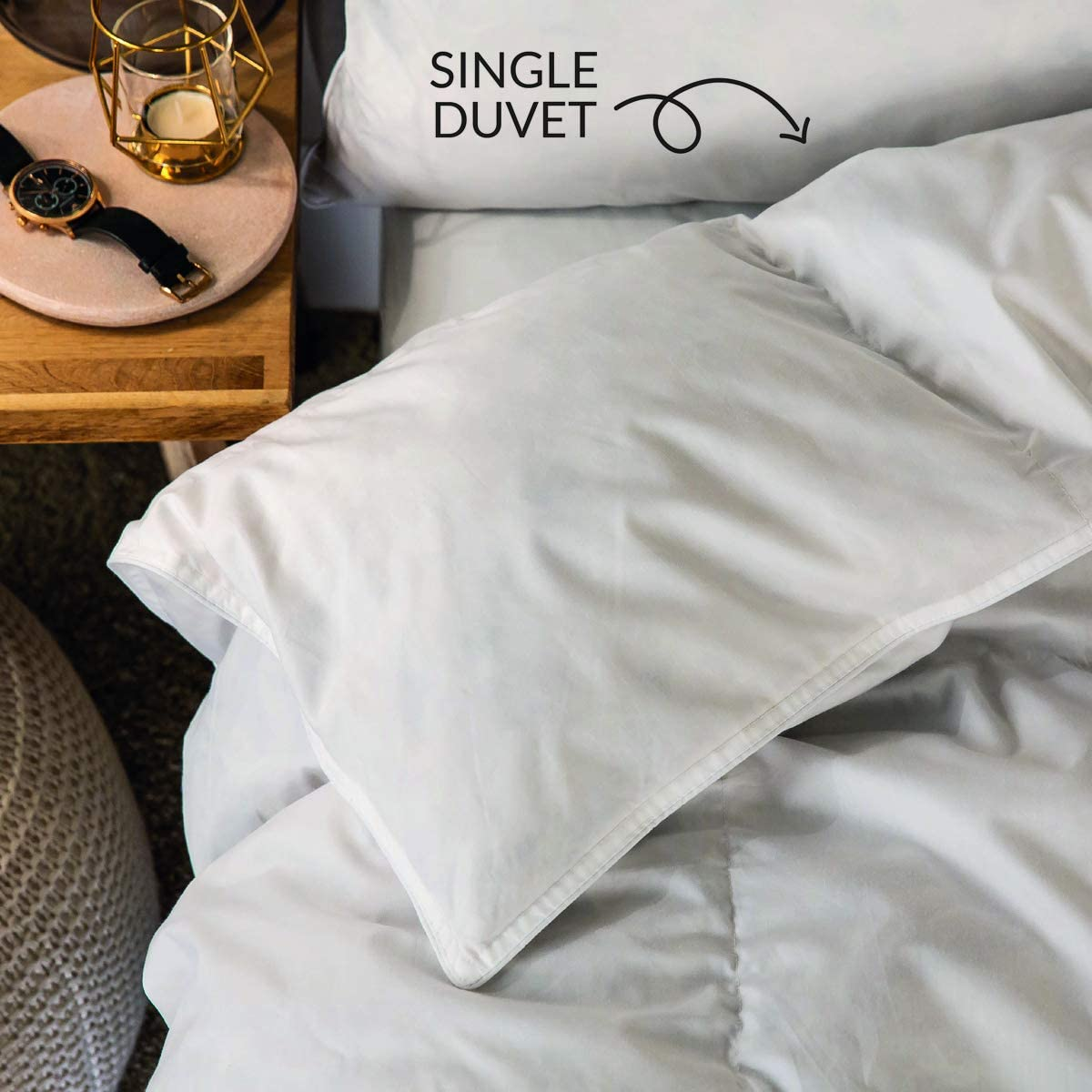 Snuggledown Bettdecke G/änsefedern und Daunen 10,5/Tog wei/ß Baumwolle Single