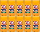 Arm & Hammer Ultra Max Invisible Solid Antiperspirant Deodorant, Fresh, 1 Ounce Travel Size (Pack of 10)
