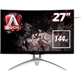 AOC AGON AG272FCX 68 cm (27 Zoll) Curved Monitor (2x HDMI, USB 3.0, 4ms Reaktionszeit, Displayport, 1920 x 1080, 144 Hz) schwarz/rot