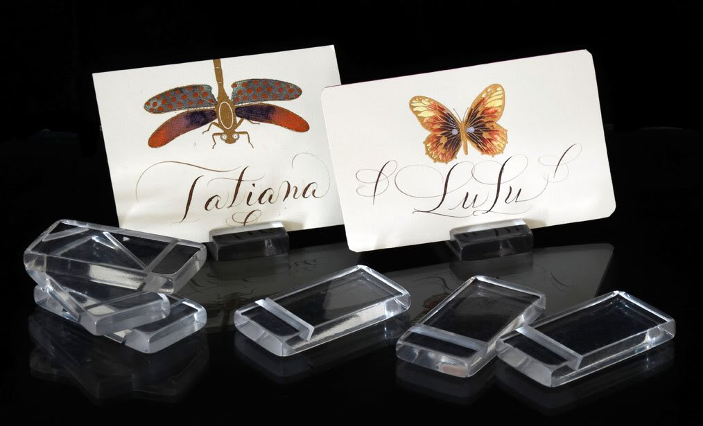 Amazon.com: Place Card Holders for Wedding Place Cards Clear Modern ...