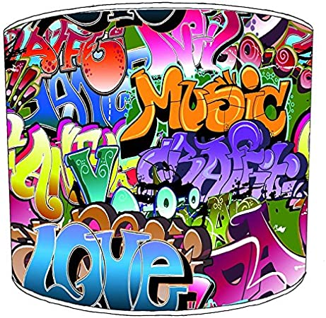 Premier Lighting 20,3/ cm Table Graffiti Street Art Lampshades9 20,3 cm