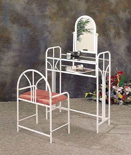 Bisbee-Art-Deco-Vanity-Set-with-Stool-in-White
