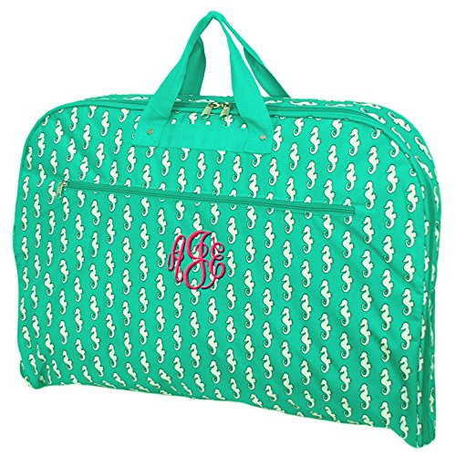 [Personalized Sea Horse Hanging Garment Bags (Green)] (Seahorse Costume Women)