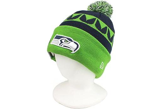 20774ec0973 Amazon.com   Seattle Seahawks On-Field Sport Knit Hat with Pom   Sports Fan  Beanies   Sports   Outdoors