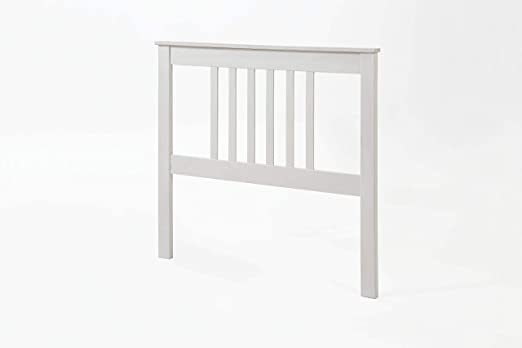 Dogar Cabecero Tabac Pino Macizo, para Cama somier de 90, Color Blanco Translucido 100x102x2 (Alto-Ancho_Fondo)