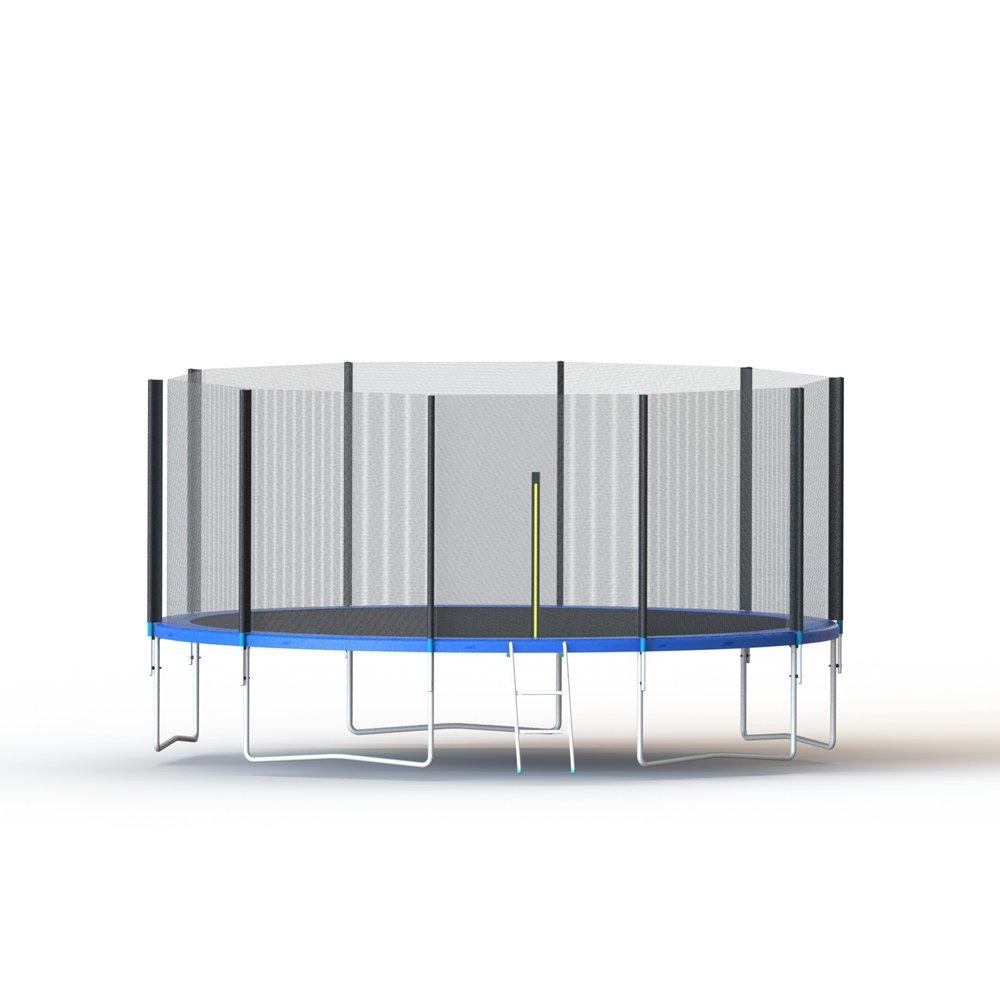 Aleko trp15 15 Fuß Trampolin mit Sicherheitsnetz und Leiter, schwarz und blau