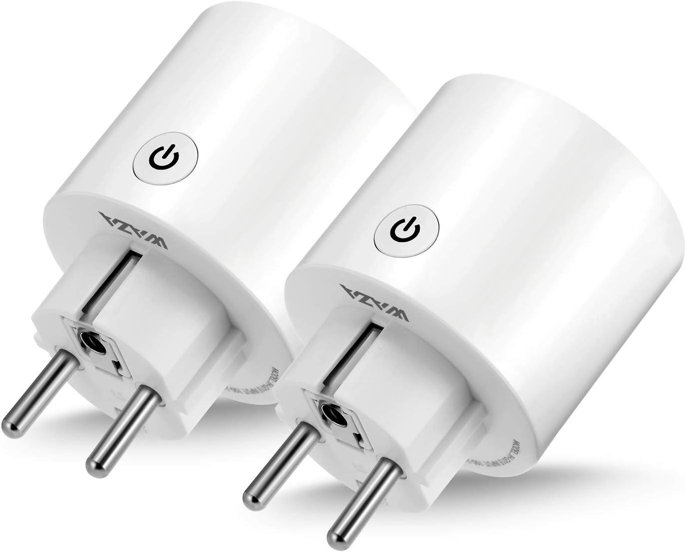 Contr/ôle Vocal pour appareils m/énagers EU Plug WAZA Connecteur Wi-FI Mini Smart Plug Compatible avec Alexa et Google Assistant