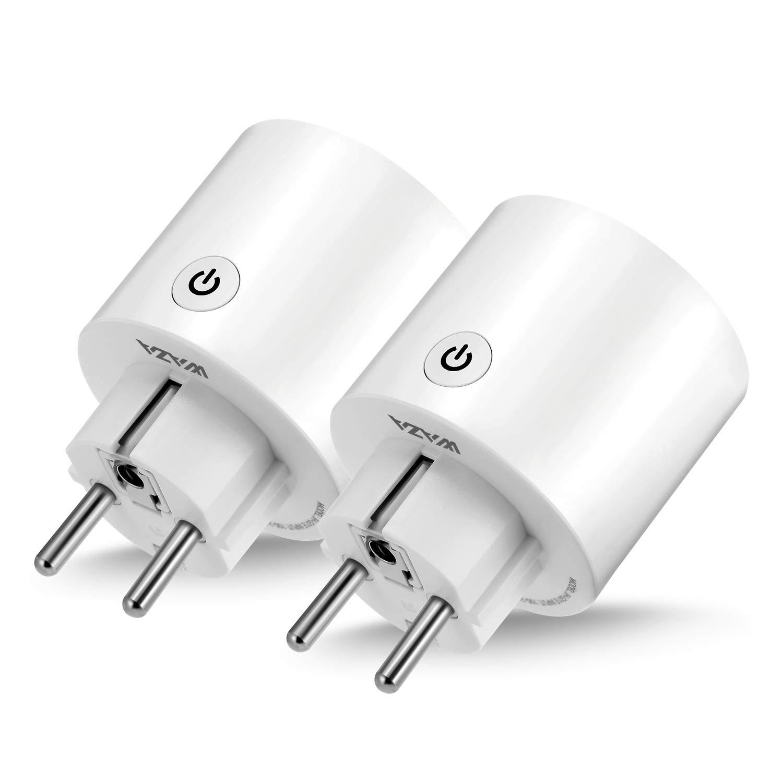 WAZA Connecteur Wi-FI Mini Smart Plug Compatible avec Alexa et Google Assistant, Contrô le Vocal pour appareils mé nagers EU Plug Contrôle Vocal pour appareils ménagers EU Plug