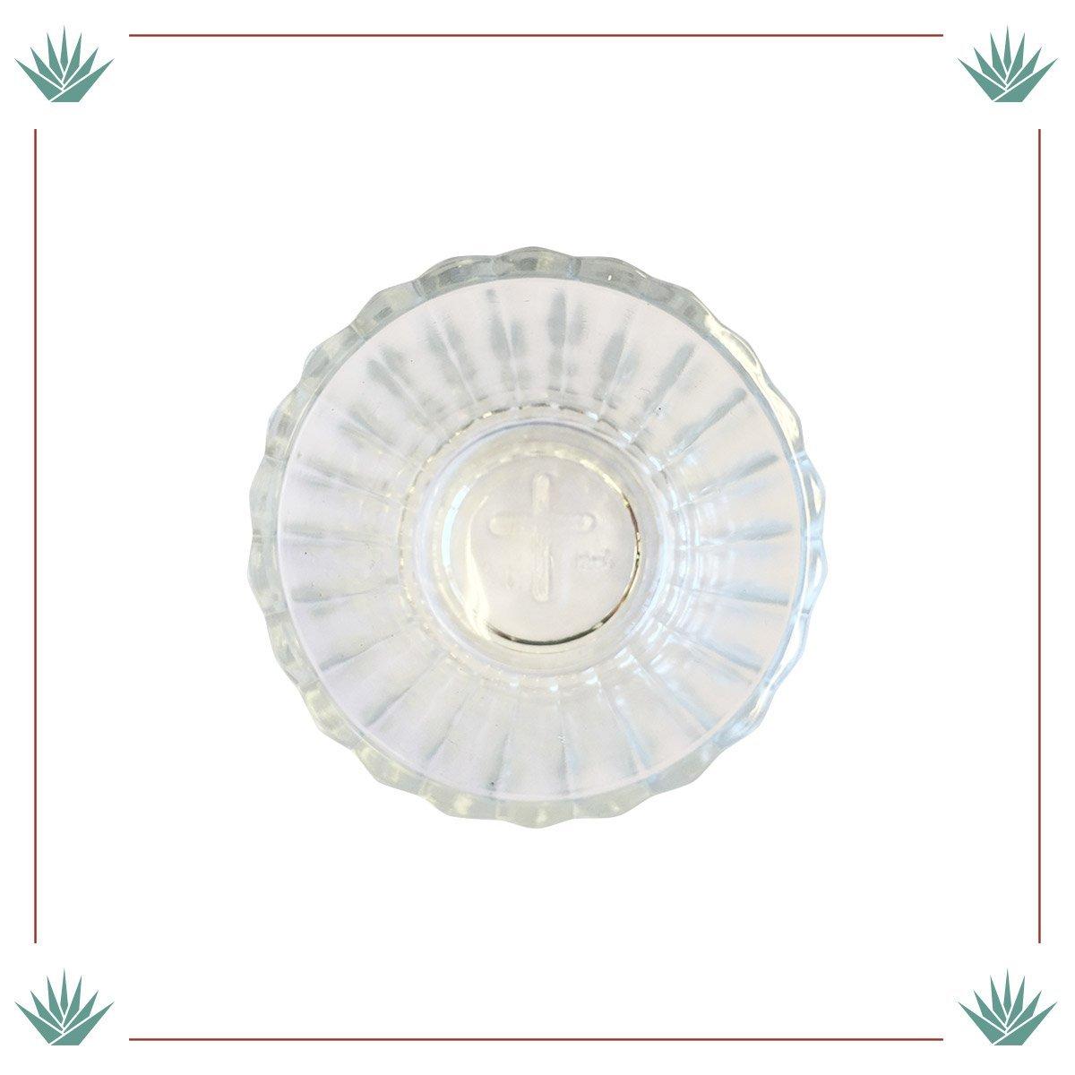 Juego de 4 Platos de Cristal y Copas Tradicionales Casa Agave Vaso Veladora