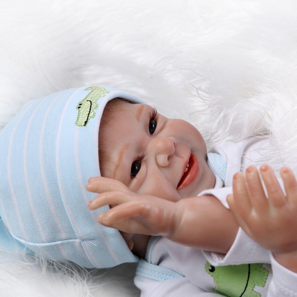 Decdeal - Reborn Muñeco de Bebé de Silicona con Ropa para Recién Nacido a011d57e419