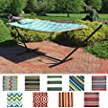 Sunnydaze Rope Hammock Combo with Stand, Pad and Pillow - Style Options Available by Sunnydaze Decor