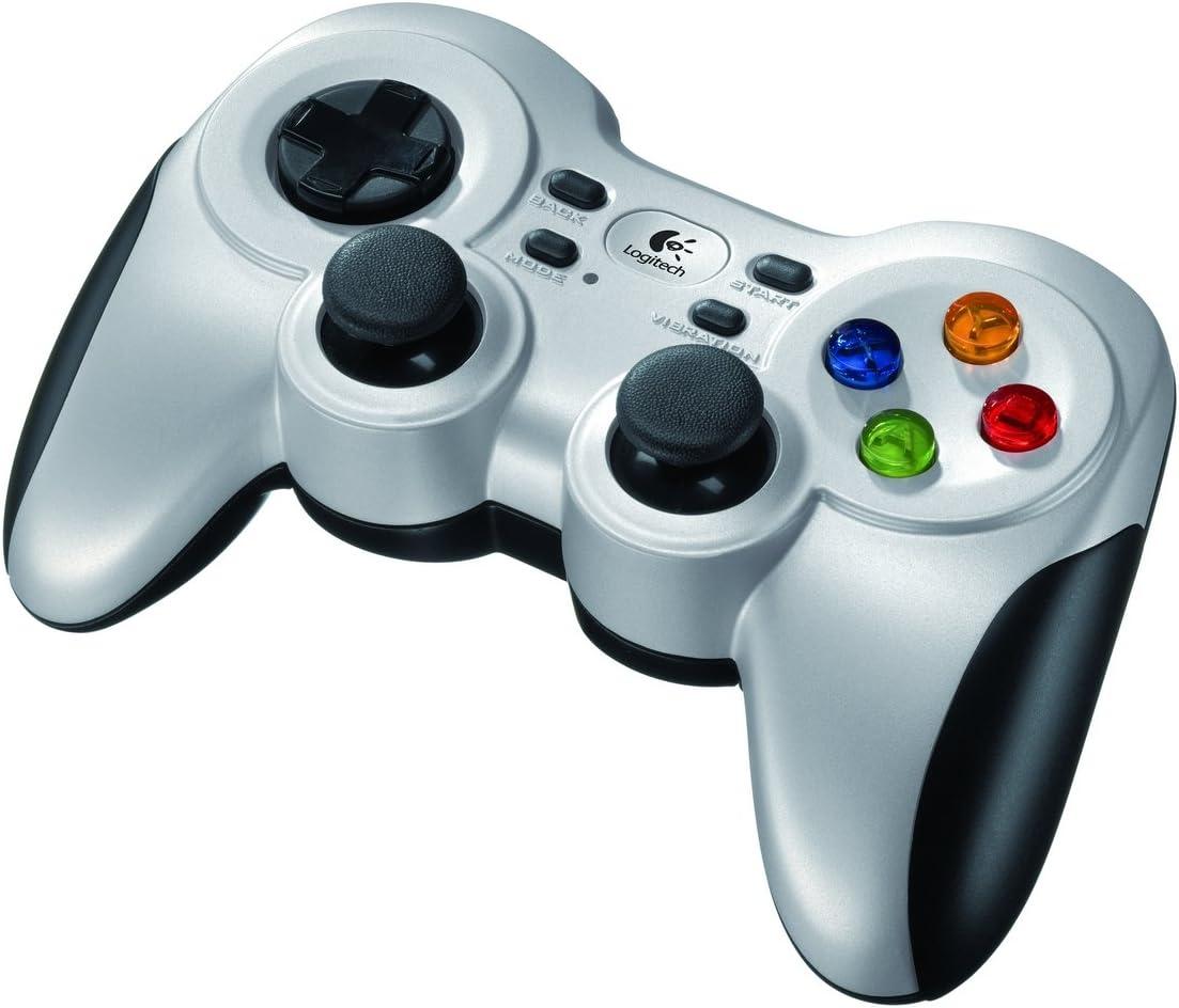 Logitech F710 Gamepad Inalámbrico, 2,4 GHz con Nano-Receptor USB, Distribución de Botones Clásica, Doble Efecto de Vibración, Mando de Dirección 4 Conmutadores, PC/Steam/AndroidTV , Negro/Gris