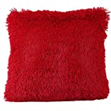 Hangood Plush Solid Color Throw Pillow Case Cushion Covers Red 42cm x 42cm