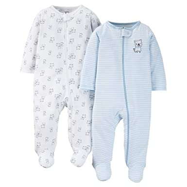 5fb1999f0 Amazon.com  Just One You by Carters Baby Boys 2-Pack Footed Sleeper ...