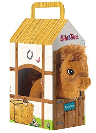 Bibi & Tina 636972-Pferd Amadeus stehend im Stall Peluche Color ...