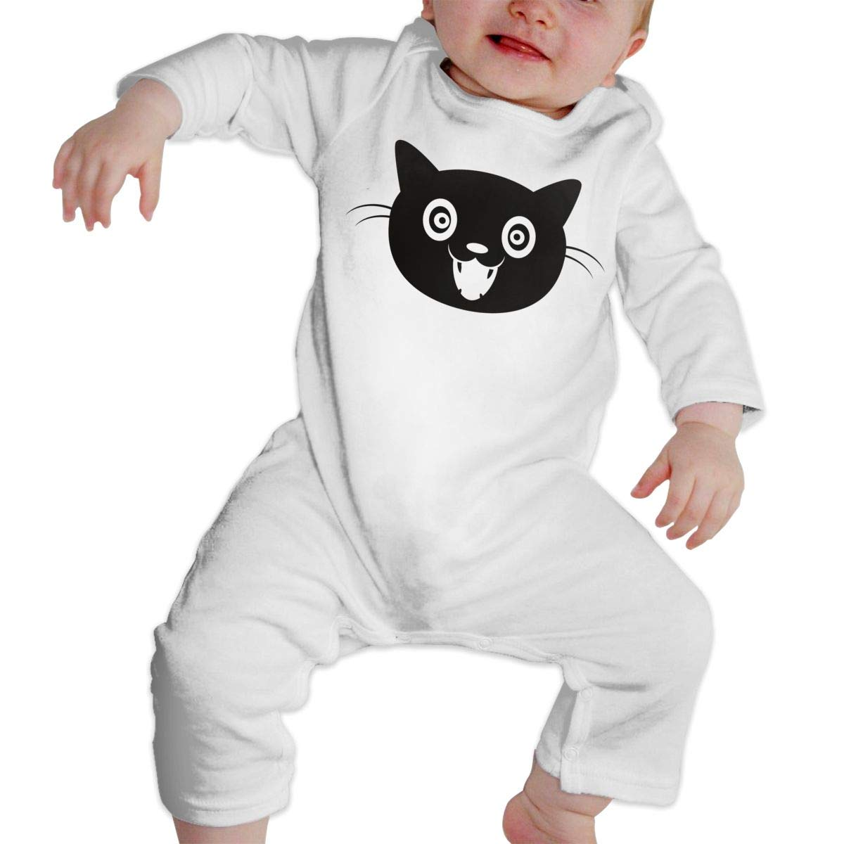 Cat/_face Unisex Long Sleeve Baby Gown Baby Bodysuit Unionsuit Footed Pajamas Romper Jumpsuit