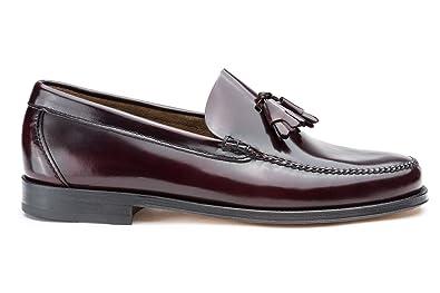 Castellano® 1920 Madrid - Mocasín florentik Burdeos Cosido Entrecarnes con borlas para Hombre: Amazon.es: Zapatos y complementos