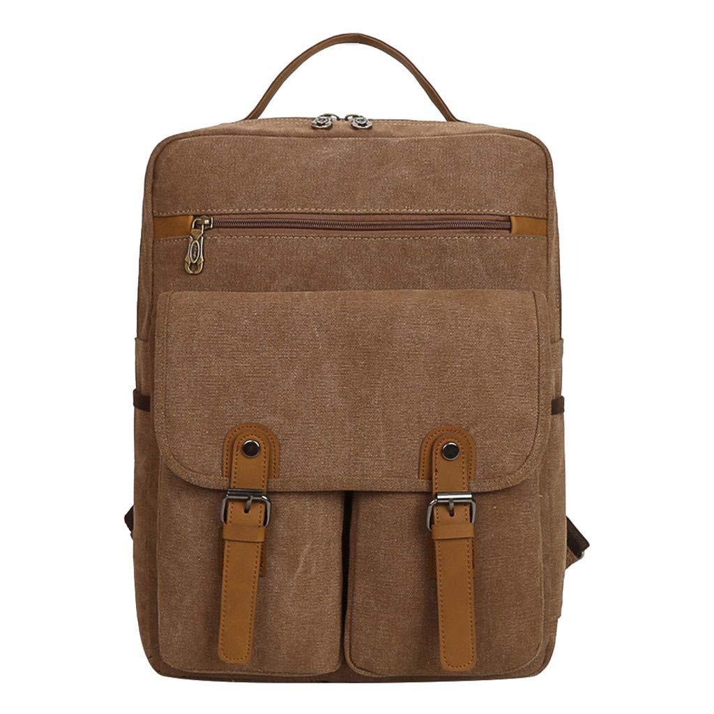 YEZIJIN Vintage Canvas Outdoor Bag Large-capacity Bag Travel Leisure Backpack for Girls Kids Boys Women