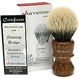 Shavemac 2 Band Silvertip Badger Shaving Brush RW3