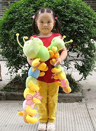 Kaka Toys Cute & Lovely Bedtime Plush Animal /Huge Plush Toy Soft Doll,the Best Gift for Kids/children/girlfriend, Soft Stuffed Plush Toy- Colorful Caterpillar,27.6 Inch / 70 Cm