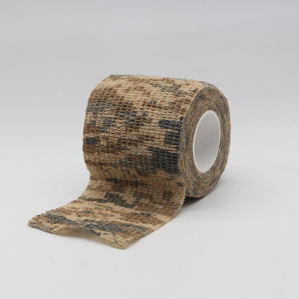 Tookie 6rotoli self Adherent bendaggio elastico traspirante camouflage Vet Wrap tape garza elastica per cane gatto, style d
