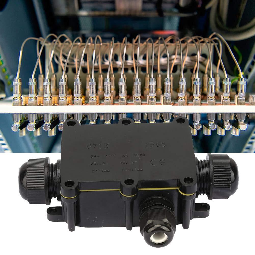 Bloque de terminales de conexi/ón del cable el/éctrico del recinto de la caja de conexiones de la prenda impermeable de Liukouu IP68 3