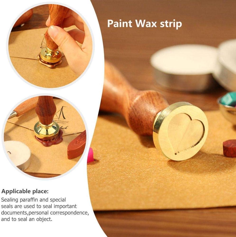 akaddy Wood Handle Metal Sealing Wax Stamp Sundries Pattern Wax Seal Stamp A47