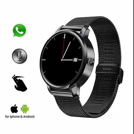 Reloj inteligente Smart Watch Bluetooth Teléfono,Rastreador de Ejercicios,Control Remoto de Cámara,