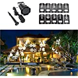 Halloween Projector, U-Deal Rotating Led Projection Light Snowflake Spotlight, 10PCS Slides White Christmas Light...