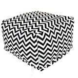 Majestic Home Goods Black Zig Zag Ottoman, Large Review