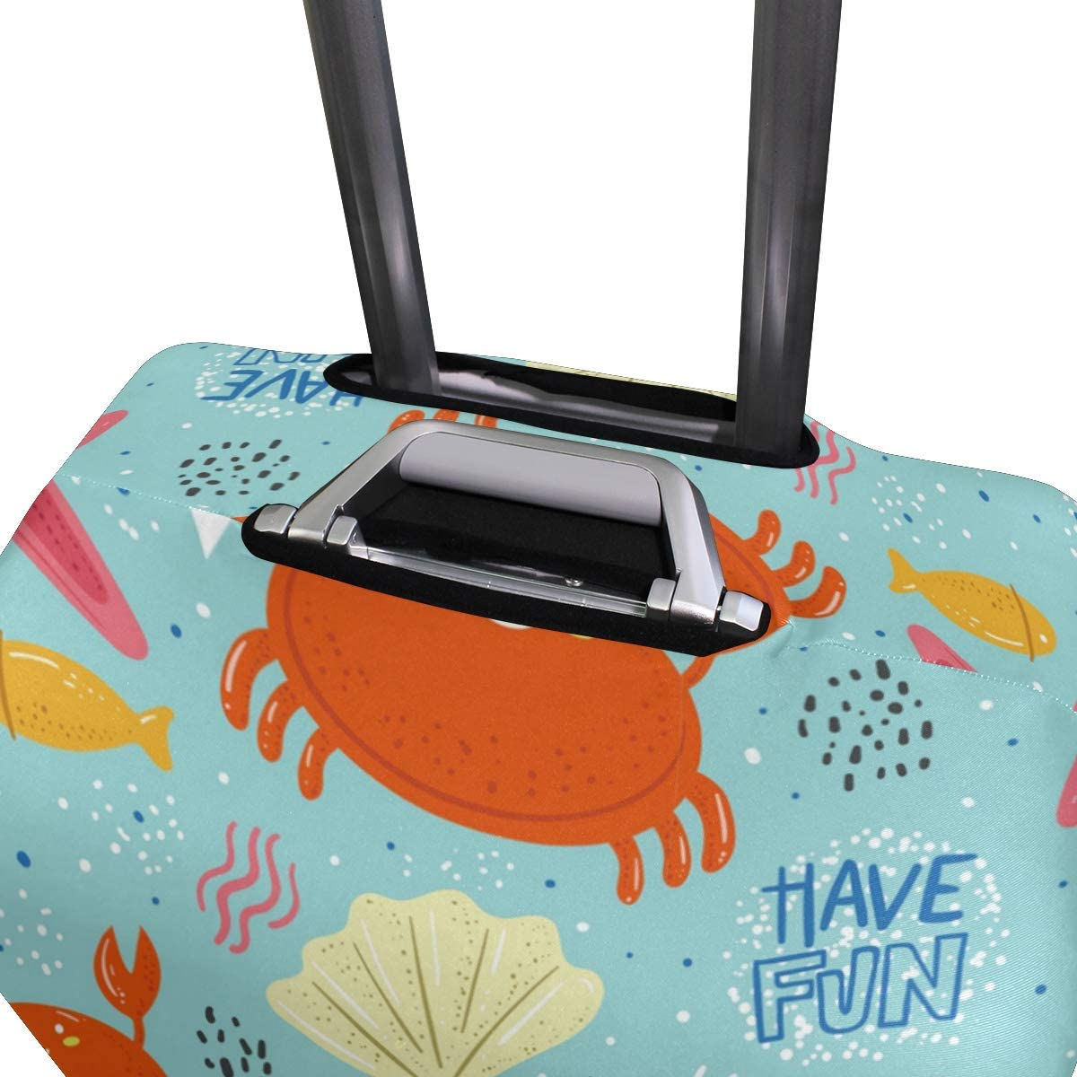 Baggage Covers Crabs Starfish Seaweed Have Fun Washable Protective Case