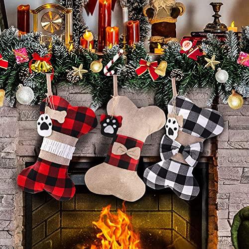 Pet Dog Christmas Stockings Set of 3, 16