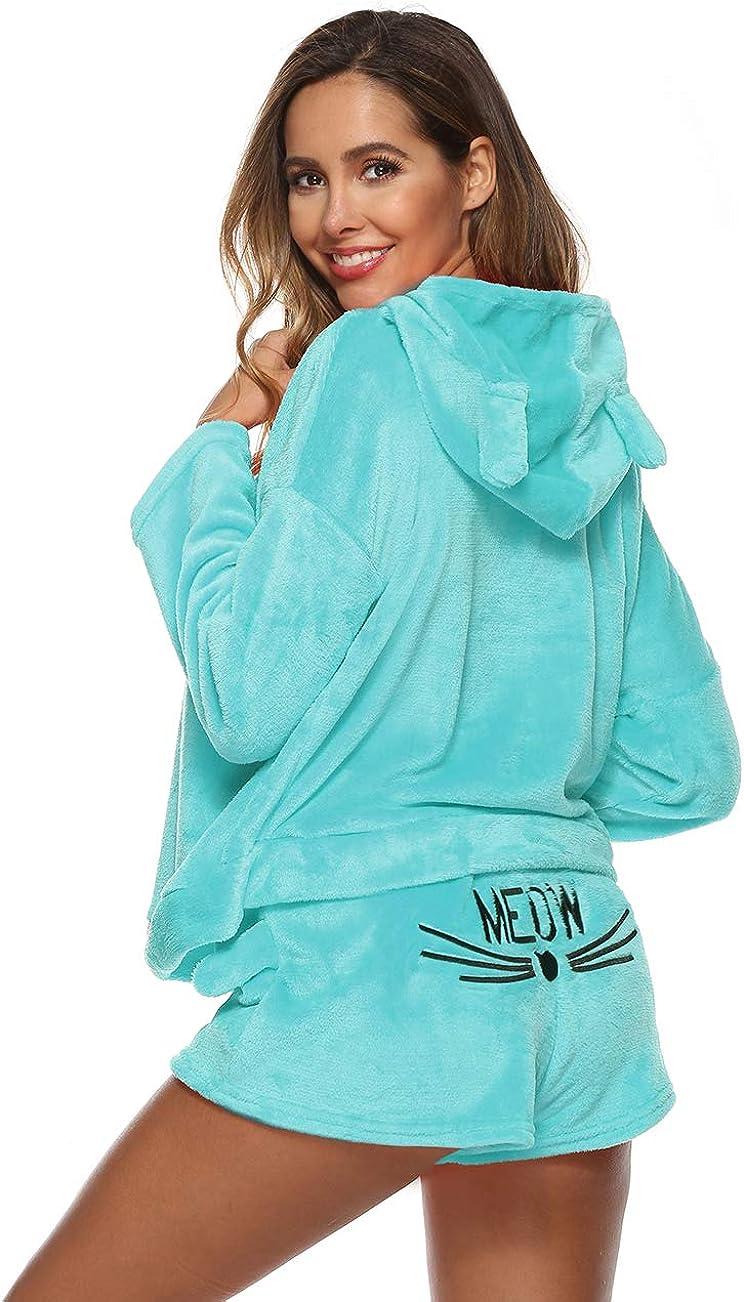 Women Teddy Bear Loungewear Fluffy Comfy PJS Sleepwear Nightwear Pyjama Sets