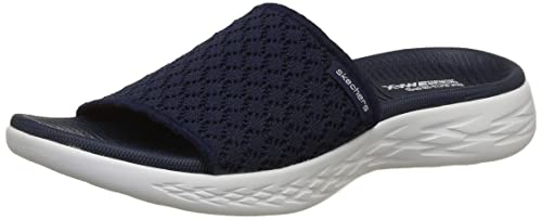 ae1074829 Skechers Women s On-The-Go 600-Stellar Navy and White Flip-Flops-7 ...