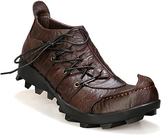XZXZ Zapatos de Seguridad Botas de Cuero para Hombres Zapatos de ...